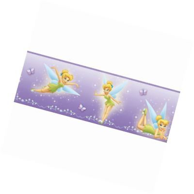 Blue Mountain Wallcoverings 83182030 Tinker Bell Lavender Prepasted Wall Border