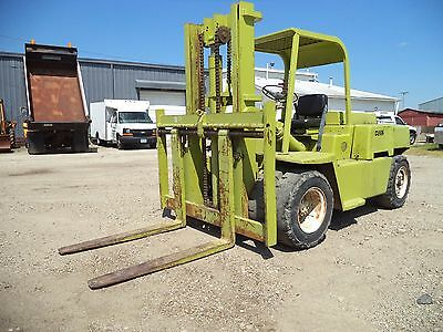 Clark Model CY100, 10,000#, 10000# Dual Pneumatic Tired Forklift, Gas Powered