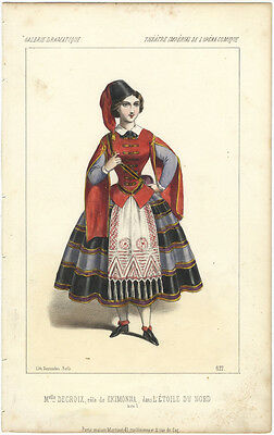 MEYERBEER, Giacomo (Opera): Hand-coloured lithograph by Destouches