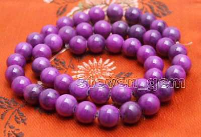 8mm purple Round natural sugilite Loose Beads strand 15'' jewelry making-los765