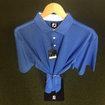 NWT Men's FootJoy Cross Print Lisle Shirt L *Discontinued*