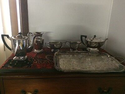 plated silver coffee/tea set