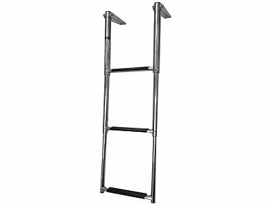 3-Step Telescopic Folding Ladder Stainless Steel - Five Oceans (BC 3526)