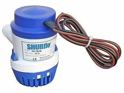 SHURflo Electric 12V Bilge Pump 1100GPH for Boats, Caravans, RVs