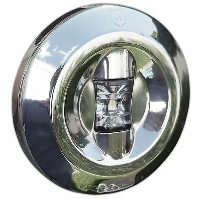 Attwood 6556-7 Round LED Stern Transom Light for Boats 3NM - Stainless Steel  (B