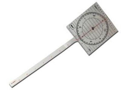 "Marine Sailing 17-1/4"" One Arm Chart Protractor- Five Oceans (BC-1415)"
