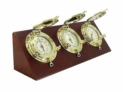 Nautical Themed Desk Weather Station w/ Barometer, Thermometer, & Hygrometer