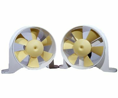 """Set of 2: Marine 4"""" In-line Blower for Boats - Yellow Tail - 220 CFM - Shurflo ("""