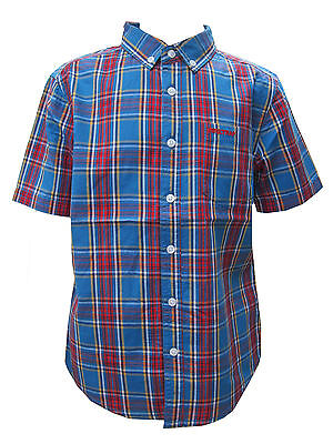 Firetrap Boys Short Sleeved Checked Shirt 100% Cotton Ages 8 Year up to 13 Years