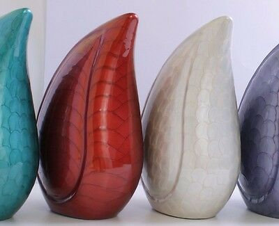Adult Teardrop cremation urn for ashes , Large Funeral Memorial urn multi colour