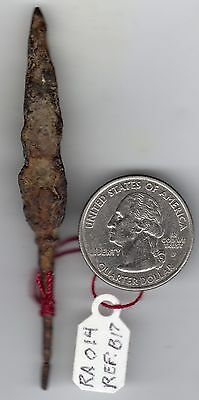 Older Roman Iron Arrowhead A Pointed Tri Lobed Battlefield Use Design With Stem