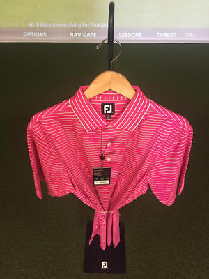 NWT Men's FootJoy STRP Lisle DBL KNT Collar Shirt M *Discontinued*