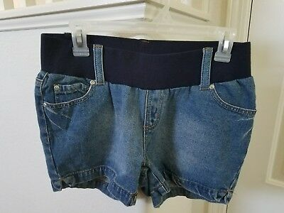Belly by Design Maternity jean denim shorts size Small