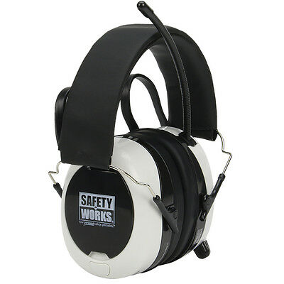 Safety Works Ear Muffs SWX00260, BLUETOOTH, Hearing Protection, AM FM RADIO