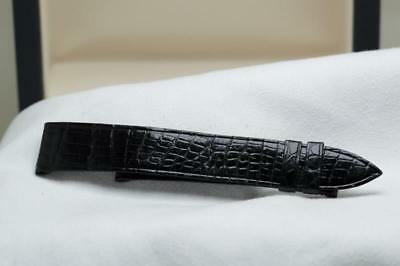 New Piaget Black Lizard Leather Strap 18mm / 16mm NOS