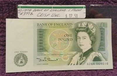 ND 1978 BANK OF ENGLAND, 1 Pound Note, UNC.