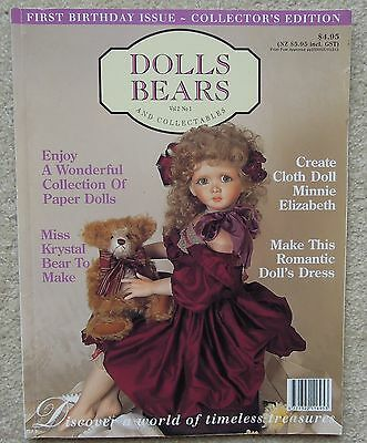 DOLLS BEARS & COLLECTABLES Vol 2 No 1 First Birthday Issue Collector's Edition