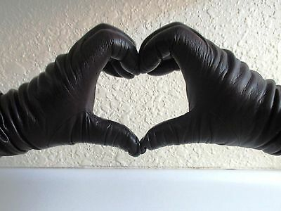 Vintage Saks Fifth Ave 💗 7 1/2  Dark Brown Leather Gloves Cashmere Lined
