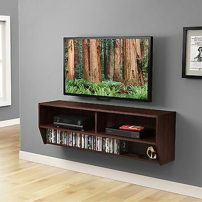 Tv Stand Console Floating Wall Mount Shelf Media Center Storage Dvd