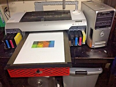 Smart Garment DTG  Printer, RIP SOFTWARE, 2 Platen (CMYK Print for Light Colors)