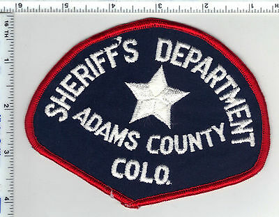 Adams County Sheriff's Department (Colorado) Shoulder Patch from the Early 1980s
