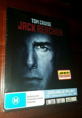 *New & Sealed* JACK REACHER - Limited Edition Steelbook Blu Ray - AUS / JB Hi-Fi