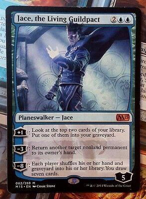 MTG 1x JACE, THE LIVING GUILDPACT - SP - M15 Mythic Rare Planeswalker
