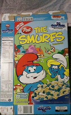 Smurfs cereal box flattened Limited Edition Post