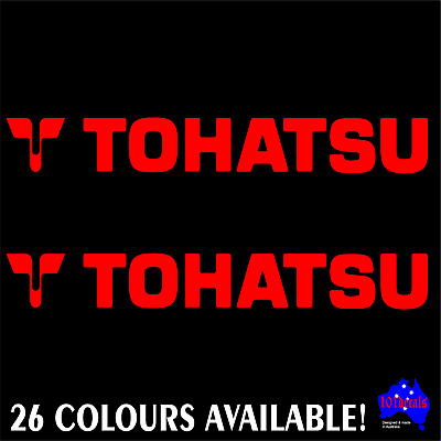 2x 30cm TOHATSU outboard motor cowl cowling quality marine boat decals stickers!