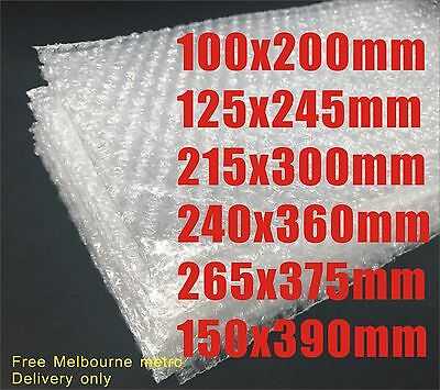 Bubble Pouch Bags Clear Lightweight Protection 100mm 125mm 215mm 240mm