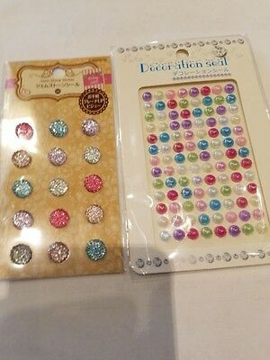 Sparkling sticker japan shape gem stone round