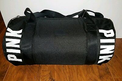 Victoria's Secret Pink logo black duffle/gym bag*brand new with tags*