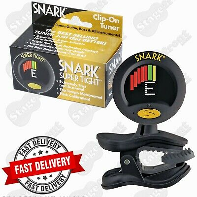 Snark Wst8 Super Tight Chromatic Clip On Tuner Plus Visual Metronome Lcd **new**