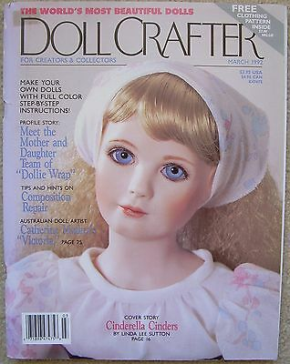 DOLL CRAFTER Magazine Porcelain Dolls & Clothes MARCH 1992 Incl Patterns
