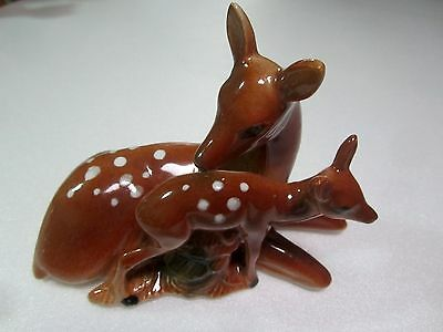 Vintage Bambi Mother and Baby Deer Mid Century Ceramic