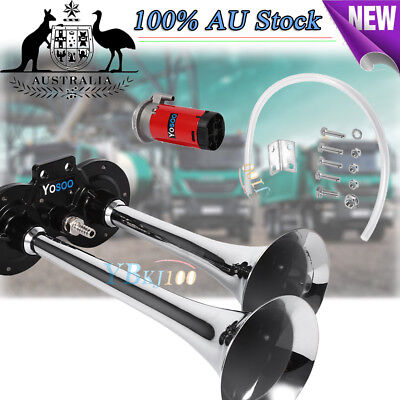 Dual Trumpet Air Horn 12V 150dB for Car Truck RV Train Boat Motorcycle AU Stock