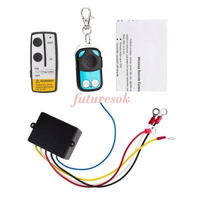 Universal Wireless Winch Remote Control Kit 12V 50FT For Car Truck Jeep ATV Warn