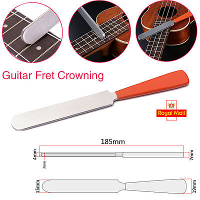 Guitar Fret Crowning Tool Luthier file Stainless Steel Dual Cut Edge UK Stock
