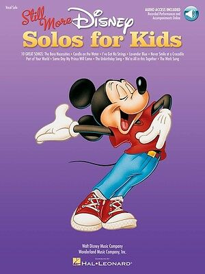 Still More Disney Solos for Kids - Vocal and Piano Music Book with Audio Access