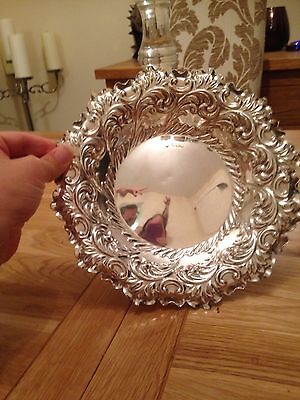 hallmarked solid silver london 1897 large fruit bowl