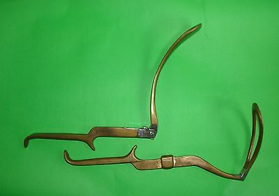 Extreme Rare Foldable English Obstetric Gynecology Forceps  About 1880