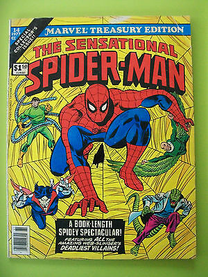 Marvel Treasury Edition THE SENSATIONAL SPIDERMAN Vol 1 No 14 1977 Large Comic