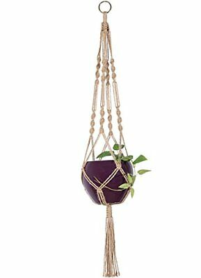 Mkono Macrame Plant Hanger Indoor Outdoor Hanging Planter Basket Jute Rope 4 34
