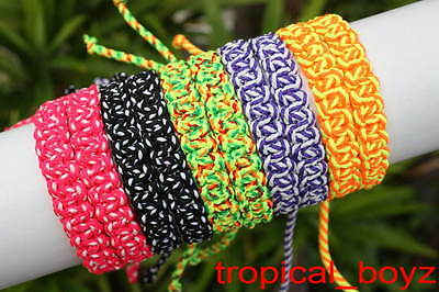 10 Strong Colorful Hidden-Knotted Handmade Slip-knotted Bracelets Wholesale