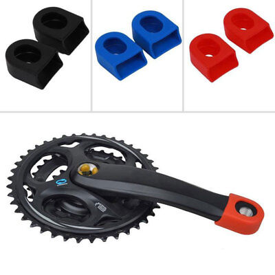 1Pair Silicone Sets Bicycle MTB Crank Arm Boots Protectors Mountain Road