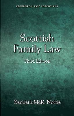 Scottish Family Law by Professor of Law Kenneth Norrie, McK (Paperback, 2015)