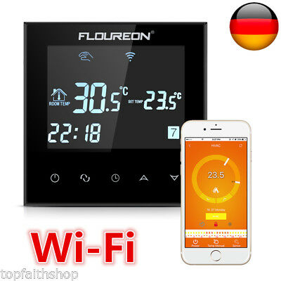 wifi lcd digital thermostat raumtemperaturregler fu bodenheizung bodenf hler ntc eur 31 99. Black Bedroom Furniture Sets. Home Design Ideas