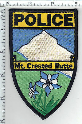 Mt. Crested Butte Police (Colorado) Shoulder Patch from the 1980s