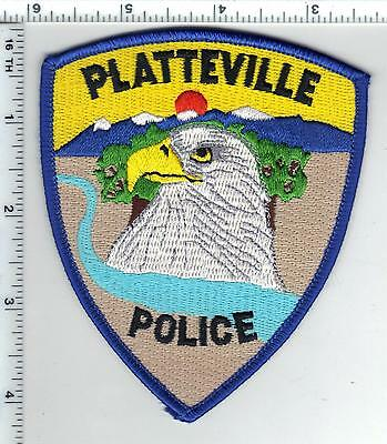 Platteville Police (Colorado) Shoulder Patch from the 1980s