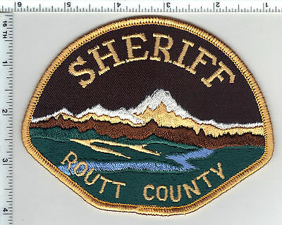 Routt County Sheriff (Colorado) Brown Design Shoulder Patch from the 1980's